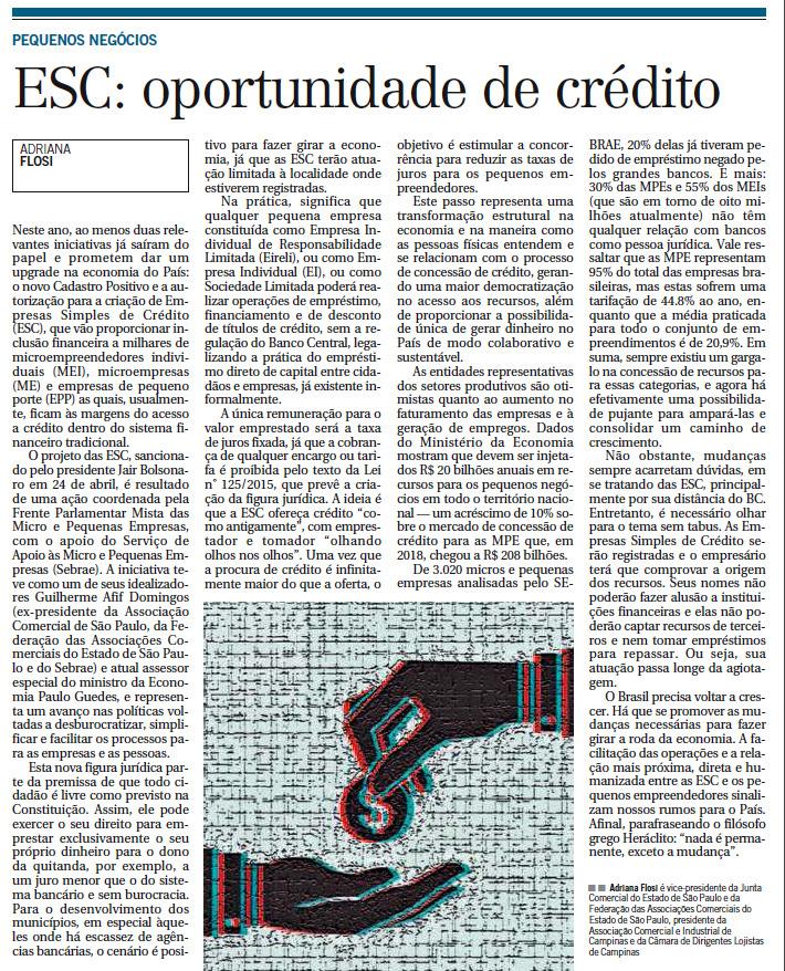 ESC: Oportunidade de inclusão financeira para pequenos negócios