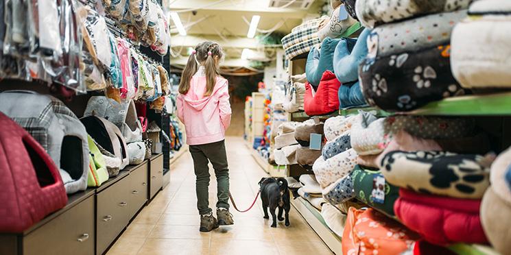 Supermercado bom para cachorro