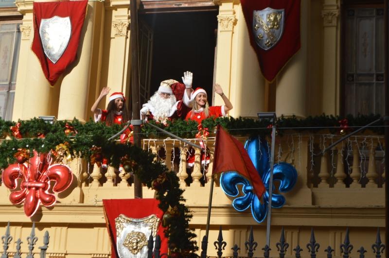 Papai Noel da ACIC chega em Campinas e inaugura Palácio