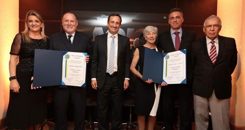 Guilherme Campos e Francis Flosi são homenageados com título de Cidadão Campineiro