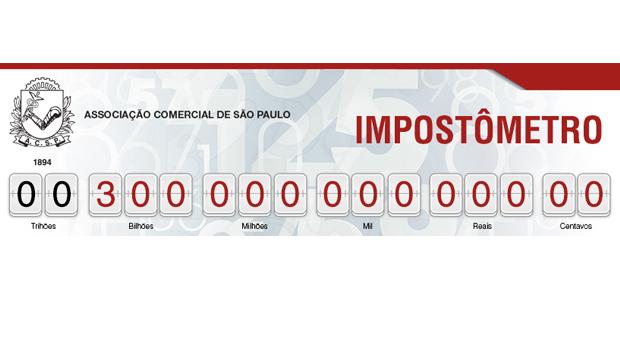 Impostômetro da ACSP chega à marca de R$ 300 bilhões neste domingo