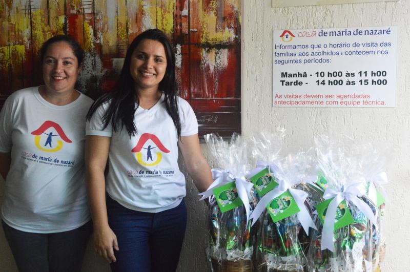 Associação doa ovos de Páscoa à Casa Maria de Nazaré