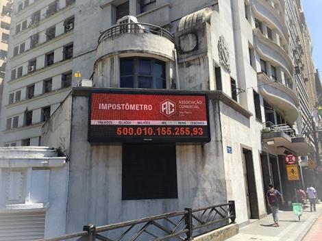 Impostômetro da ACSP registra R$ 500 bilhões nesta terça-feira